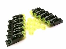 LEGO /10 NEW Black Trigger Shooters w/ base & bullet rounds - mini cannon weapon