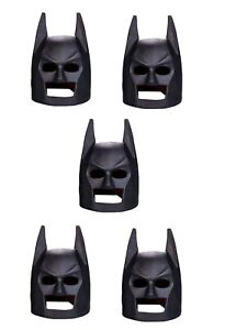 LEGO 5 x Black Batman Helmets for Minifigures NEW