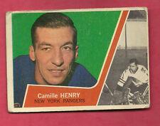 1963-64 TOPPS # 56 RANGERS CAMILLE HENRY  CARD