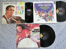 SANDY NELSON 3 LP Lot *Plays Teen Beat *Superdrums *Rock 'N Roll Revival*