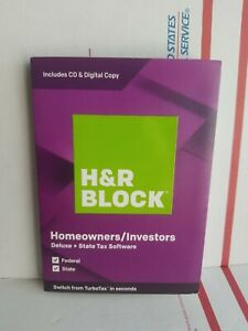 H&R Block Homeowners/Investors Tax Software Deluxe  State 2019Instant download