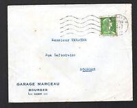 """BOURGES (18) GARAGE CONCESSIONNAIRE SIMCA """"GARAGE MARCEAU"""" voyagée en 1957"""