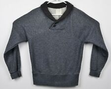 Billy Reid Men's Sz Medium Shawl Collar Heather Gray Pullover Sweater