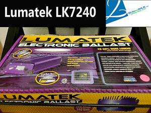NEW Lumatek LK7240 Electronic Ballast 750 Watt 240 Volt by Hydrofarm Open Box