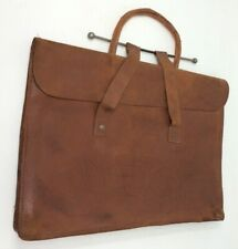 Vintage Soft Tan Leather Attache Briefcase Bag 39 x 29 cms