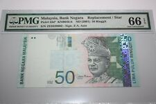 (PL) NEW: RM 50 ZE 0439602 PMG 66 EPQ ZETI 11TH SERIES REPLACEMENT NOTE GEM UNC