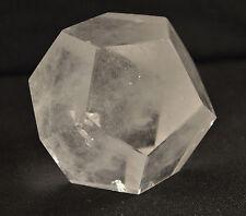 Dodecaedre en Quartz Cristal De Roche Solide de Platon 276 Grammes
