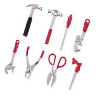 Dollhouse Miniature Metal Handy Man Tool Set Pliers Wrench Saw JOS6381