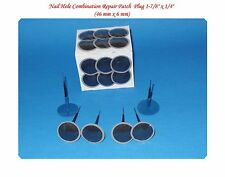 "24 Pcs All Purpose Nail Hole Combination Repair tire Patch Plug 1-7/8"" x 1/4"""