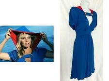 NWOT VOOM by JOY HAN Blue & Red Hooded Dress Size XL Retail $250