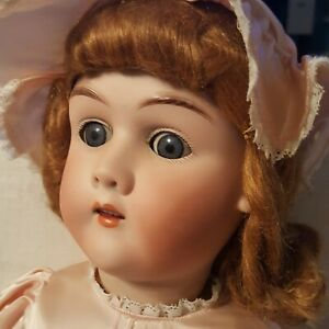 """Antique 22"""" Max Handwerck German Bisque Doll  COMPO & WOOD BODY BEAUTIFUL NICE"""