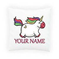 Personalised UNICORN Pillowcase Cushion INSERT Pillow Case Cover Custom Gift