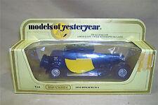 Matchbox Models of Yesteryear Y-24 1928 Bugatti T-44 w Box Vtg 1970s EXC 4661