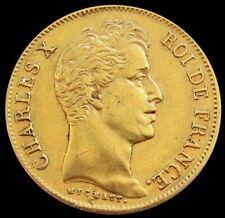 1830 A GOLD FRANCE 40 FRANCS KING CHARLES X COIN PARIS MINT
