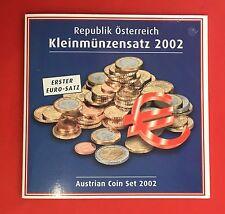 AUTRICHE / OSTERREICH 2002 SERIE EURO B.U  - HUIT PIECES  - NEUF -