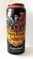 Paulaner Salvator Doppelbock beer can New cans 500 ml. Imported from Germany