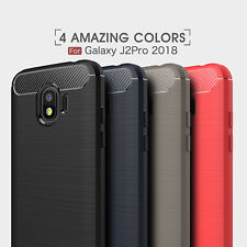 Shockproof Heavy Duty Carbon Fiber Case Cover For Samsung Galaxy J2 Pro 2018