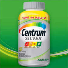 Centrum Silver Adult 50+, 325 Tablets Multivitamin Supplement Exp 08/18