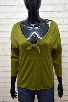 HUGO BOSS Maglia Donna Taglia M Polo Blusa Manica 3/4 T-shirt Jersey Casual