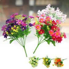 Bunch Artificial Fake Silk Flower Daisy Bouquet Home Wedding Party Decoration