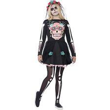 Sugar Skull Sweetie Halloween Teen Womens Ladies Fancy Dress Costume