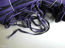 ANCIEN GALON LISERET passepoil noir et violet COTON 1MX0.5 CM@RUBBON