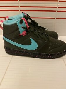 NIKE AIR COURT BOROUGH MID 2 SHOES BLACK PINK CASUAL BQ5440 300 Size 7Y Vice
