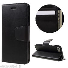 FLIP COVER CUSTODIA SLOT CARTE PER APPLE IPHONE 8 PORTAFOGLIO LIBRO NERA
