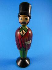 "Hand Painted Wooden Christmas Ornament Victorian Gentleman 4.5"""