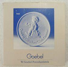 Goebel 1985 Collector Club Plaque In Original Box