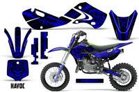 Decal Graphic Kit Wrap For Kawasaki KLX 110 2002-2009 KX 65 2002-2018 HAVOC BLUE