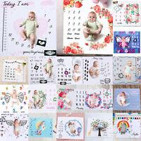 Meilenstein Fotografie Neugeborene Baby Decke monatliche Blumen Zahlen Foto Prop