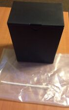 New Sure Lock Black Plastic Temporary Creamation URN with Snap Lock Lid