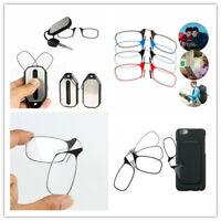 Portable Optics Presbyopic Mini Clip Nose Reading Glasses W/ Case 1.5 2.0 2.5 3
