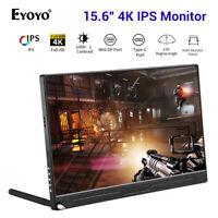 """Eyoyo 15,6 """"4K HDMI Monitor Zweiter Bildschirm USB-C-Bildschirm für Dell HP PC"""
