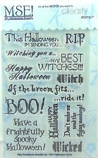 NEW! My Sentiments Exactly! Clear Stamps Y221 Halloween Cards