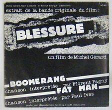 Blessure 45 tours Michel Gérard Florent Pagny 1985