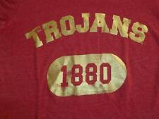 "USC TROJANS WOMENS DISTRESSED VICTORIA SECRET "" PINK "" SHIRT TOP SMALL VERY NICE"