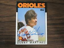 1986 Topps # 416 DENNIS MARTINEZ Autographed / Signed Card (C) Baltimore Orioles