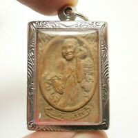 LP SUANG MIRACLE KITE MAGIC MONK THAI BUDDHA AMULET RICH LUCKY REAL RARE PENDANT