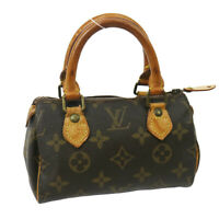 LOUIS VUITTON MINI SPEEDY HAND BAG PURSE MONOGRAM VINTAGE M41534 35046
