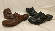 Clarks Artisan Womens Sz 7 M Mules Clogs Shoes Lot of 2 Leather Buckle Sandals