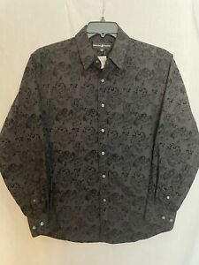 Beverly Hills Polo Club Men's Black Button-Down Long Sleeve Shirt Size L Large