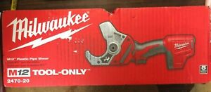 Milwaukee M12 Plastic Pipe Shear TOOL-ONLY 2470-20 BRAND NEW