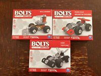 Bolts By Meccano Building Kit Metal Lot of 3 Race Car, Bulldozer, Car STEM