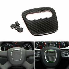 Carbon Fiber Steering Wheel Insert Badge Emblem Stickers For Audi Q5 Q7 A4 A3