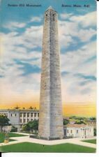 bunker hill monument ,boston massachusetts postcard