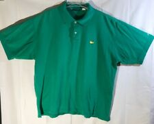 THE MASTERS Collection Golf Polo Shirt S/S Mens sz XL Green Augusta National