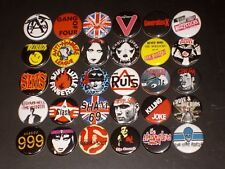 English Punk Band Buttons /  Pins 30