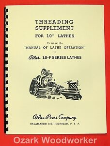 ATLAS/CRAFTSMAN 10-F Metal Lathe Threading Operations Manual 0020